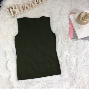 Loft Ann Taylor tank top love color size M